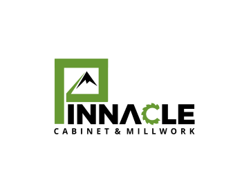 Pinnacle Cabinet & Millwork logo design