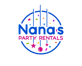 Nana's Party Rental logo design