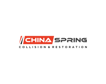 CHINA SPRING COLLISION & RESTORATION logo design