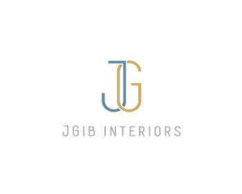 JGib Interiors logo design