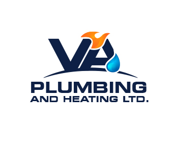 V & A Plumbing and Heating LTD. logo design