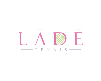 LĀDĒ Tennis logo design