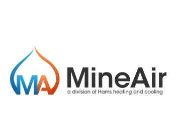 Mine Air a division of Hams heating and cooling logo design