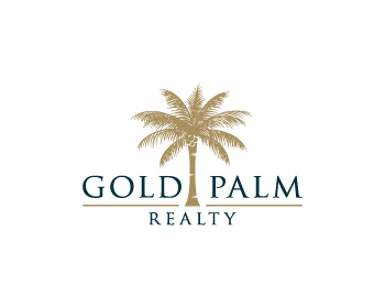Gold Palm Realty logo design
