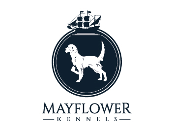 Mayflower Kennels logo design