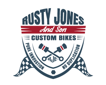 Rusty Jones Custom Bikes logo design
