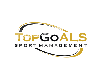 TopGoal Football Management logo design