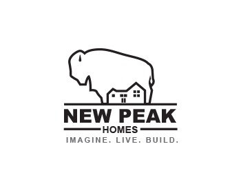 New Peak Homes logo design