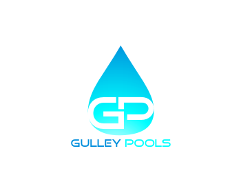 Gulley Pools logo design
