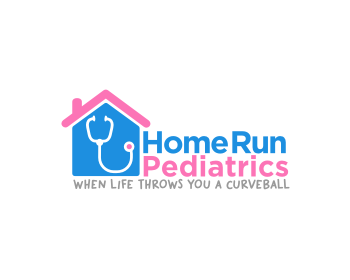 Home Run Pediatrics logo design