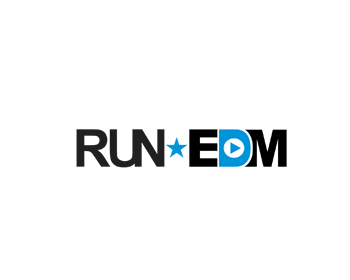 Run-EDM logo design