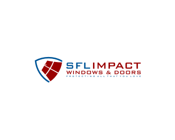 SFL Impact Windows & Doors logo design