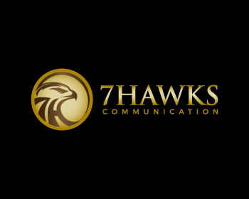 7 Hawks Communication logo design