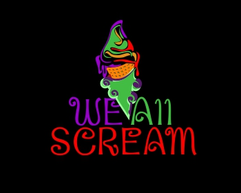 We All Scream logo design