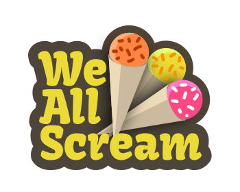 Logo design for We All Scream
