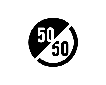 logo design for 50/50