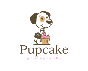 Pupcake Photography logo design