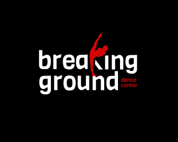 breaking ground dance center logo design