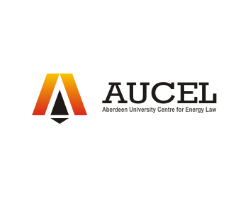 Aberdeen University Centre for Energy Law (AUCEL) logo design