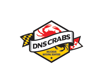 D N S CRABS logo design