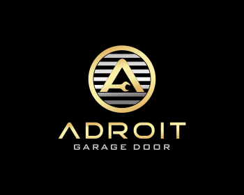 Adroit Garage Doors logo design