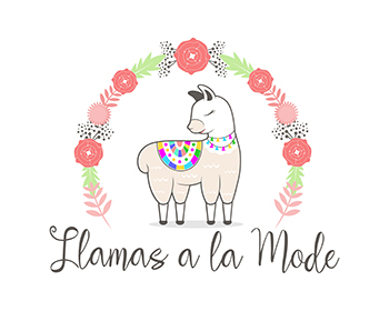 Llamas a la Mode logo design