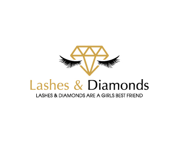 Lashes & Diamonds logo design