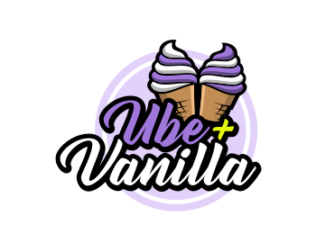 Logo design for Ube + Vanilla