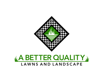 A Better Quality Lawns and Landscape logo design