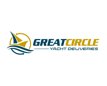Great Circle Yacht Deliveries logo design