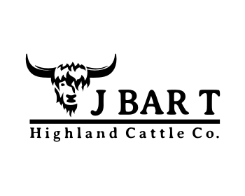 Logo design for J Bar T Highland Cattle Co.