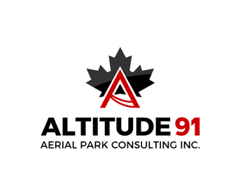 Logo design for Altitude 91 Aerial Park Consulting Inc.