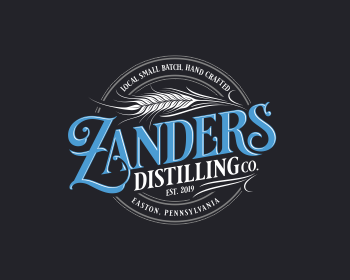 Logo design for ZANDERS DISTILLING COMPANY