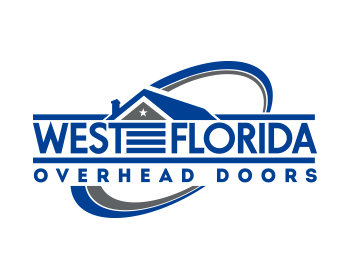 West Florida Overhead Doors logo design