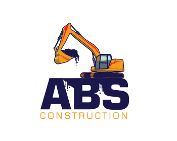 A B S construction logo design