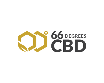 66 Degrees CBD logo design
