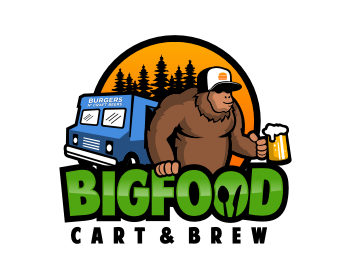 Bigfood Cart & Brew logo design