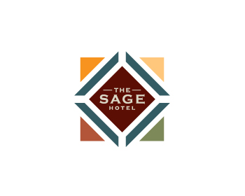 The Sage Hotel logo design