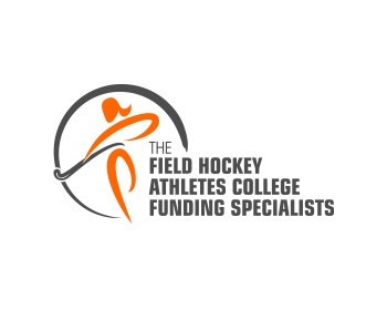 The Field Hockey Athletes College Funding Specialists logo design