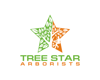 Logo design for Tree Star Arborists
