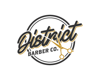 District Barber Co. logo design