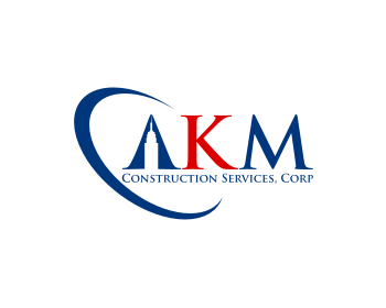 AKM Construction Services, Corp logo design
