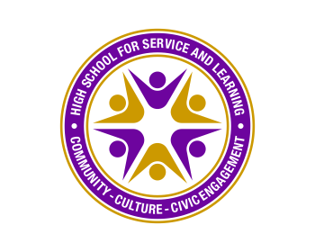 High School for Service and Learning logo design