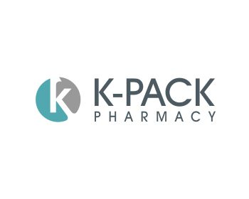 K-Pack Pharmacy logo design