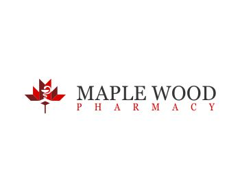 Maple Wood Pharmacy logo design