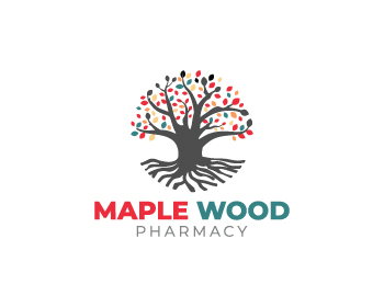 Logo design for Maple Wood Pharmacy