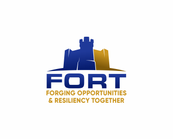 Logo design for Forging Opportunities & Resiliency Together (FORT)