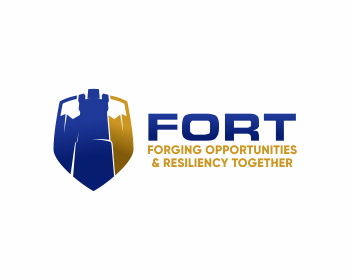 Forging Opportunities & Resiliency Together (FORT) logo design