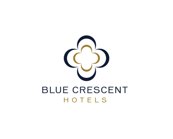 Blue Crescent Hotels logo design