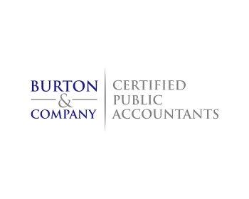 Burton & Company Certified Public Accountants logo design